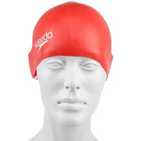 speedo Plain Moulded Bonnet de bain en silicone Enfant, red